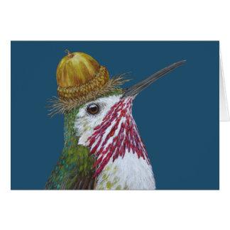 Gå i flisor hummingbirdkortet hälsningskort