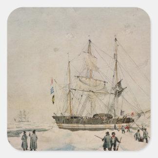 Gå i packen, Ross expedition, 1842 Fyrkantigt Klistermärke