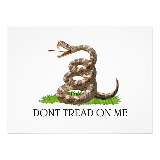 Gå inte på mig flagga för den Gadsden amerikanrevo Konstfoto