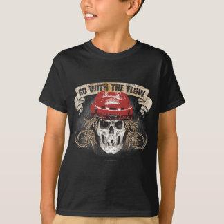 Gå med det röda flödet (hockeyhår) t shirts