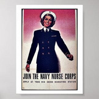 Gå med kår för den Tht marinsjuksköterskan Poster