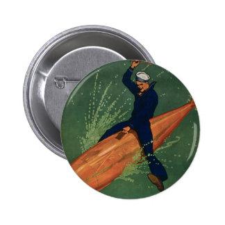 Gå med marinen standard knapp rund 5.7 cm