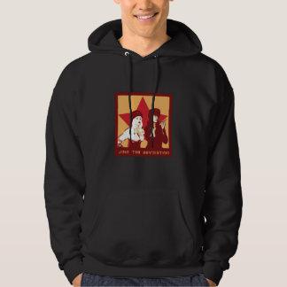 Gå med revolutiontröjan (bemannar & kvinnor), hoodie