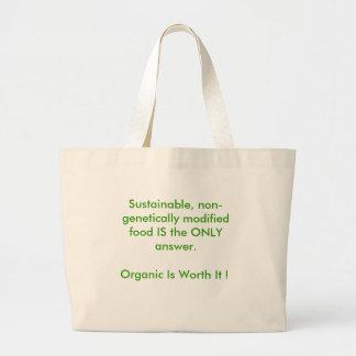 Gå organisk jumbo tygkasse