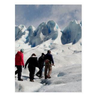 Gå på den Perito Moreno glaciären, Argentina Vykort