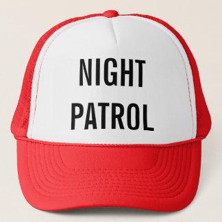 Gå på nattpatrull truckerkeps