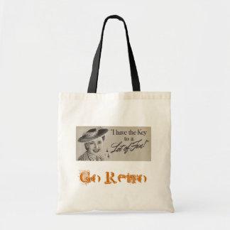 Gå Retro hänger lös Tote Bag
