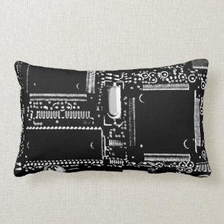 Gå runt den svartvita lumbaren för 2 dekorativ lumbarkudde