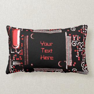 "Gå runt röd 2"" dekorativ kuddelumbaren för din lumbarkudde"