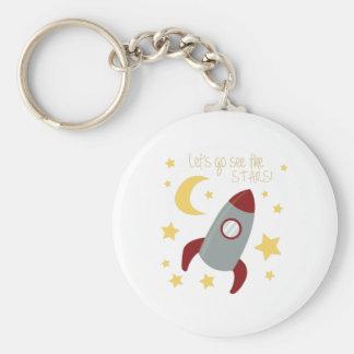 Gå ser stjärnorna rund nyckelring