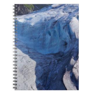 Gå ut glaciären vinkar anteckningsbok