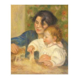 Gabrielle Renard och spädbarnson, Jean vid Renoir Canvastryck