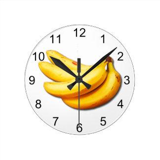 Gående bananer rund klocka