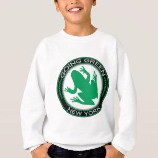 Gående grön New York groda Tee Shirt