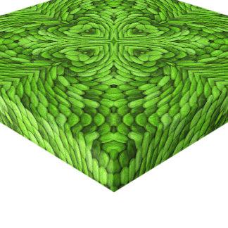 Gående grön slågen in kanfas för vintage canvastryck