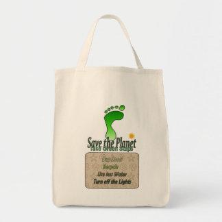 Gående grön toto mat tygkasse
