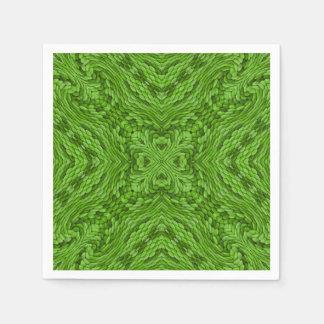 Gående gröna färgrika coctailservetter servett
