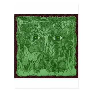 Gaia varar besvärad av naturen vykort