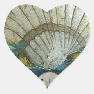 Gails snäcka hjärtformat klistermärke