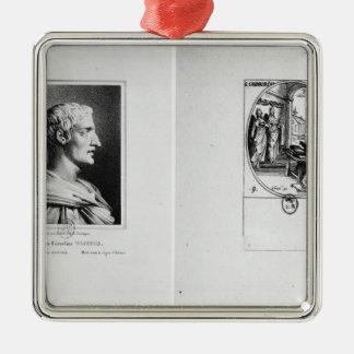 Gaius Cornelius Tacitus som inristas av Julien Julgransprydnad Metall