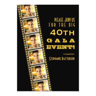 Gala för foto för födelsedag för filmpremiärkändis 12,7 x 17,8 cm inbjudningskort