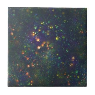 Galaktisktt glitter för påfågelblåttgrönt liten kakelplatta