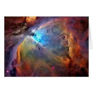 Galax för Orion Nebulautrymme Hälsningskort