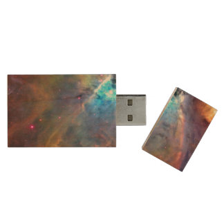 Galax för Orion Nebulautrymme Trä USB-minne