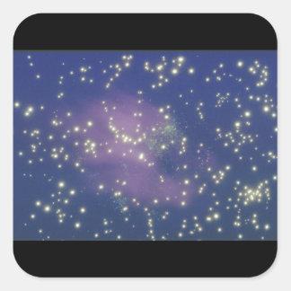 Galax. (galax; utrymme; stjärnor; färg; fyrkantigt klistermärke