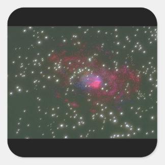 Galax. (galax; utrymme; stjärnor; fyrkantigt klistermärke