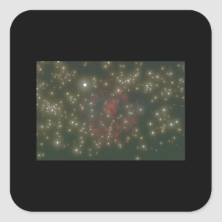 Galax. (galax; utrymme; stjärnor; planet; fyrkantigt klistermärke
