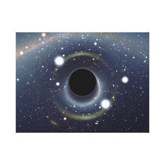 Galaxsvarthål i utrymme canvastryck