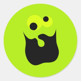 Galen ansikteklistermärke runt klistermärke