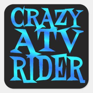 Galen ATV-ryttare Fyrkantigt Klistermärke