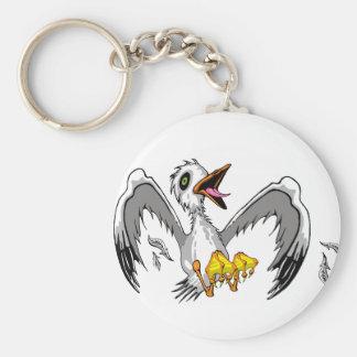 Galen fiskmås Keychain Nyckel Ring