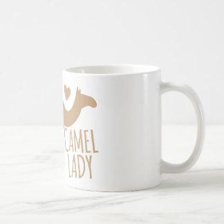 Galen kameldam vit mugg