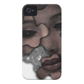 Galen metall Wellcoda för mekaniskt damansikte iPhone 4 Case-Mate Cases