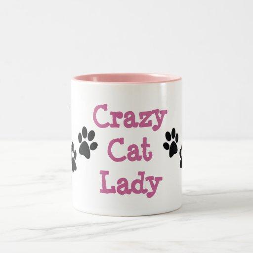Galen mugg för kaffe för design för kattdamtassavt
