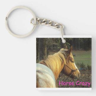 Galen nyckelring för häst