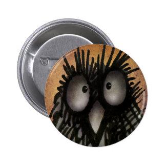 Galen rolig konst för nattuggla för ugglaälskare standard knapp rund 5.7 cm