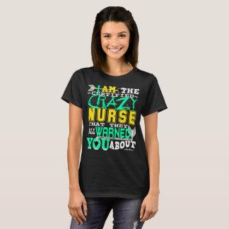 Galen sjuksköterska för rolig auktoriserad t shirt