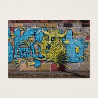 Galen sort av grafitti för Horned uggla för Visitkort