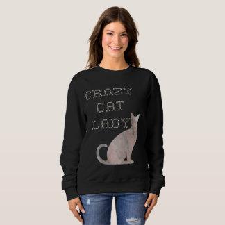 Galen tröja för broderi för kattdamvattenfärg