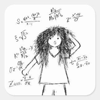 Galenheta Maths Fyrkantigt Klistermärke