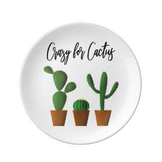 Galet för kaktusporslin plätera porslinstallrik