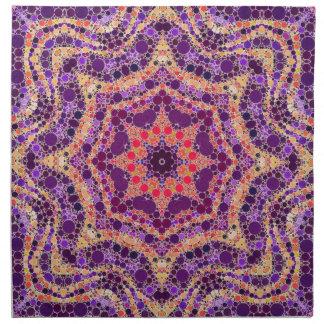 Galet härligt abstrakt mönster tygservett