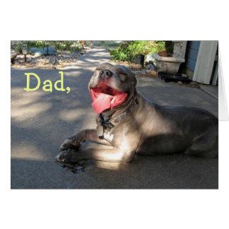 Galet kort för pappaPitbull fars dag