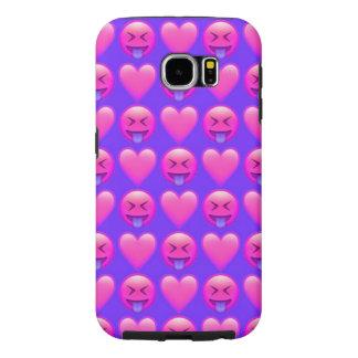 Galet mobilt fodral för kärlekEmoji Samsung galax Galaxy S5 Fodral
