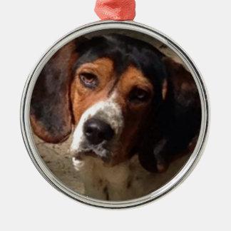 Galet om min Beagle Julgransprydnad Metall