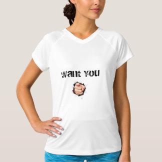 Galet önska dig t-skjortan för kvinnor tshirts